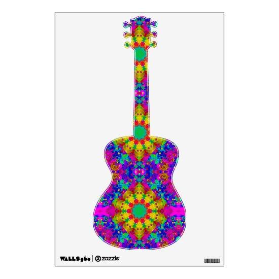 Purple Turquiose and Yellow Mandala Pattern Wall Decal