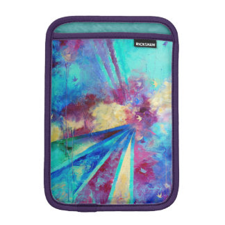 Purple Turquoise Birds iPad Sleeve