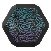 Purple Turquoise Black Zebra Animal Print Speaker