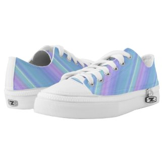Purple Turquoise Blue Green Low Top Printed Shoes