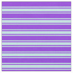 [ Thumbnail: Purple & Turquoise Lined/Striped Pattern Fabric ]