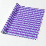 [ Thumbnail: Purple & Turquoise Lined/Striped Pattern Wrapping Paper ]