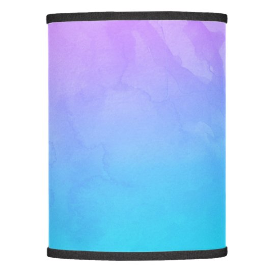 Purple Turquoise Mermaid Watercolor Ombre Paint Lamp Shade