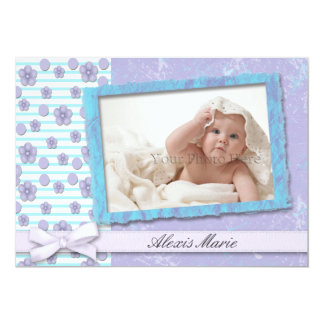 Purple Turquoise Photo Card