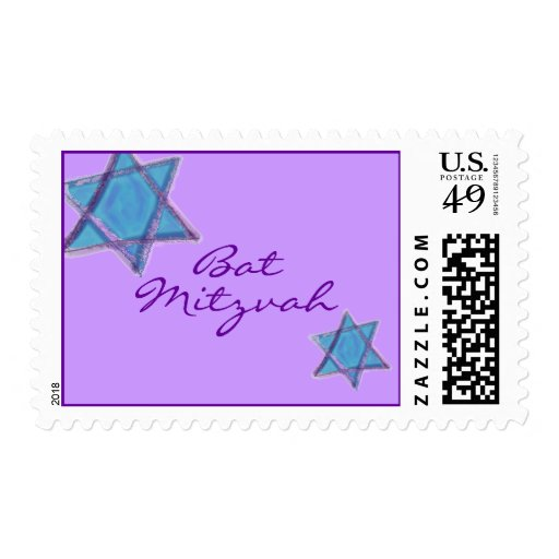 Purple Turquoise Sketch Star Stamp