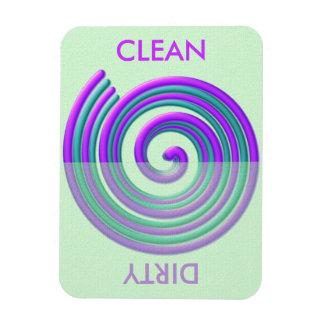 Purple Turquoise Spiral Dishwasher Flexi Magnet