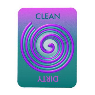 Purple Turquoise Spiral Dishwasher Magnet
