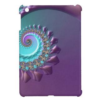 Purple Turquoise Swirl iPad Mini Cover