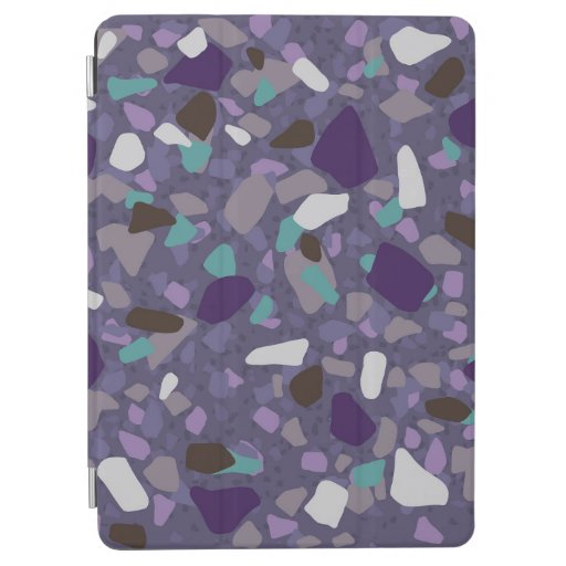 Purple turquoise terrazzo pattern iPad air cover