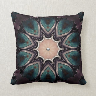 Purple Turquoise. Throw Pillow