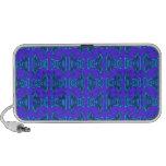 Purple Turquoise Tiki Pattern Laptop Speaker