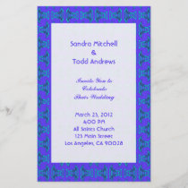 Purple Turquoise Tiki Wedding