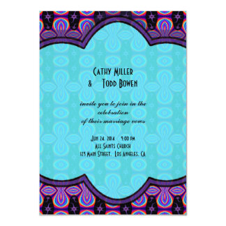 Purple Turquoise Wedding Card