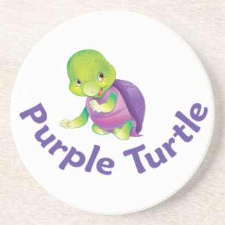 Purple Turtle Coster Drink Coaster