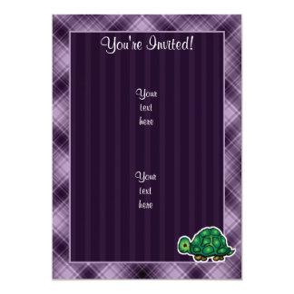 """Purple Turtle 5"""" X 7"""" Invitation Card"""