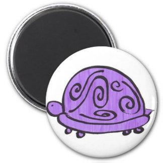 Purple Turtle Magnet