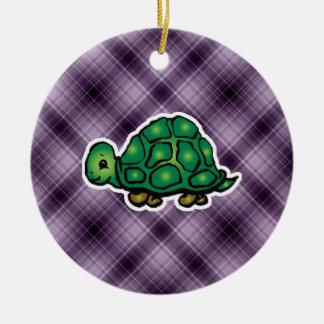 Purple Turtle Christmas Ornament