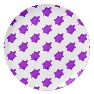 Purple Turtles Pattern Dinner Plate