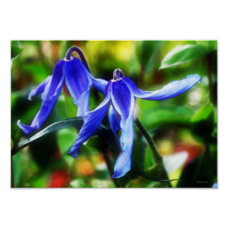 Purple Twins Framable Fine Art Painting Poster