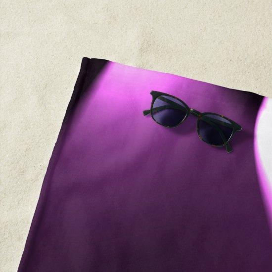 Purple Twirl Lights Beach Towel