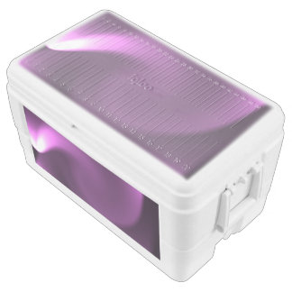 Purple Twirl Lights Chest Cooler