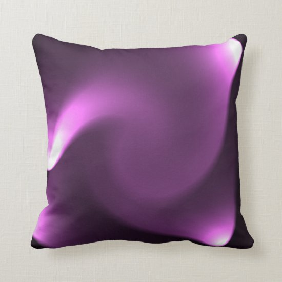 Purple Twirl Lights Throw Pillow