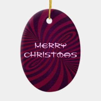 Purple Twist Christmas Ornament