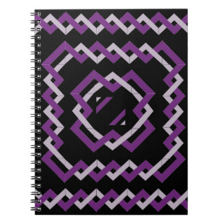 Purple Twisted Ribbons Notebook