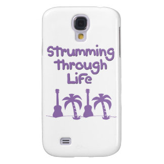 Purple Ukulele hawaiin tropical surf design Samsung Galaxy S4 Case