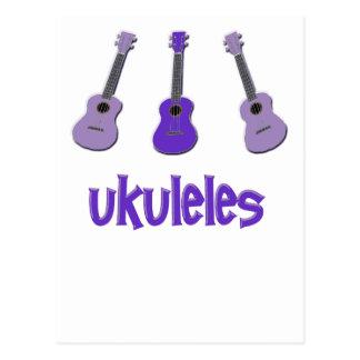 Purple Ukulele Postcard