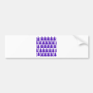 Purple Ukuleles Bumper Sticker