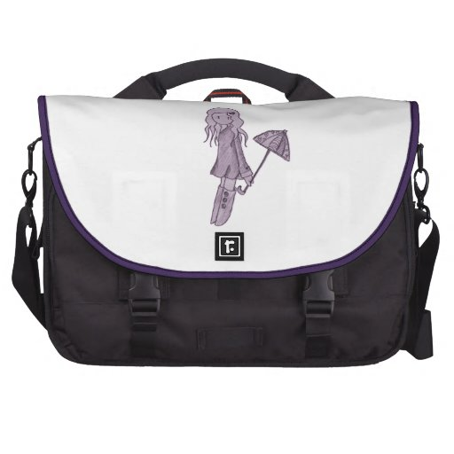 Purple Umbrella and Girl Bag For Laptop