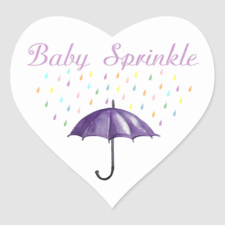 Purple Umbrella Baby Sprinkle Stickers