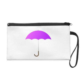 Purple Umbrella Wristlet Clutch