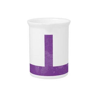 Purple umbrella beverage pitcher