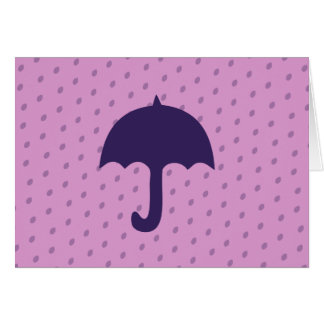 Purple Umbrella Card