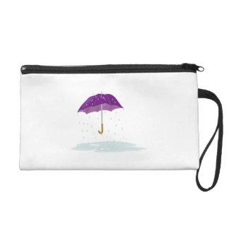 Purple Umbrella in the Rain Wristlets
