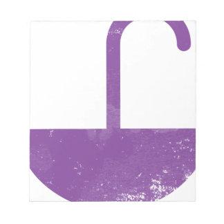 Purple umbrella notepad