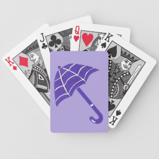 Purple Umbrella Playing Cards