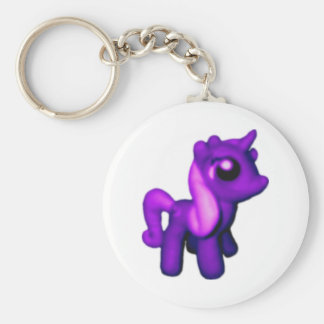 Purple Unicorn Basic Keychain