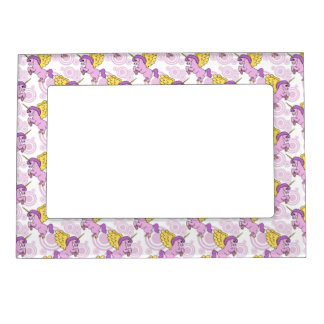 Purple Unicorn Graphic Magnetic Photo Frame