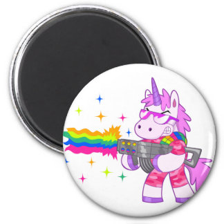 Purple Unicorn - Gun Magnet