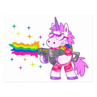 Purple Unicorn - Gun Postcard