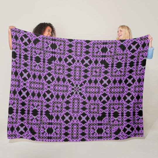 Purple Unicorn Hearts Renaissance Quilt Pattern Fleece Blanket Best Fleece Blanket Pattern
