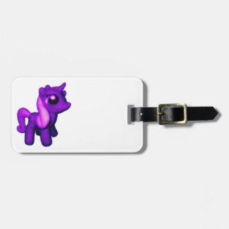 Purple Unicorn Luggage Tag Bag Tags