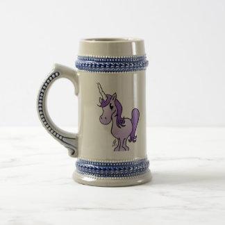 Purple unicorn 18 oz beer stein