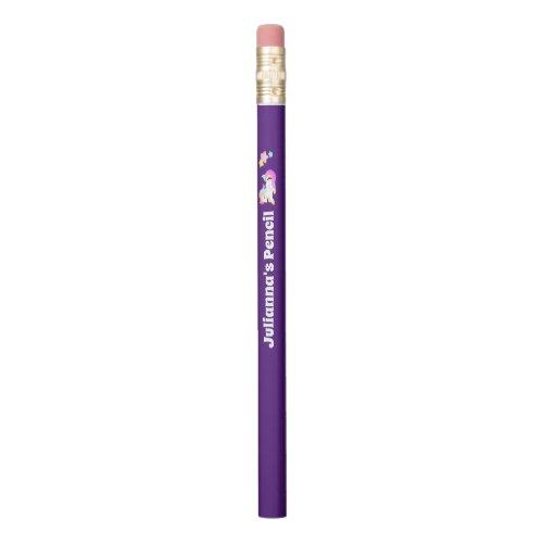 Purple Unicorn Personalized Pencil