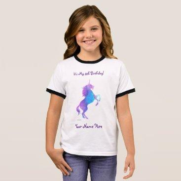 linda_mn Purple Unicorn Ringer T-Shirt
