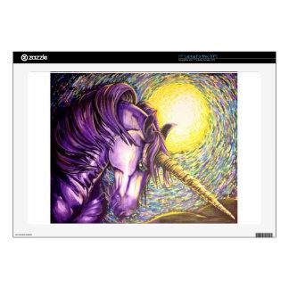 "purple unicorn skin for 17"" laptop"