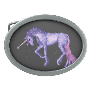 Purple Unicorn Sparkles Belt Buckles